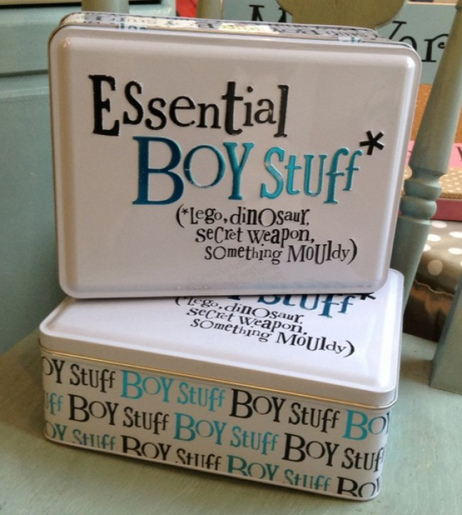 The Bright Side Essential Boy Stuff Storage Tin